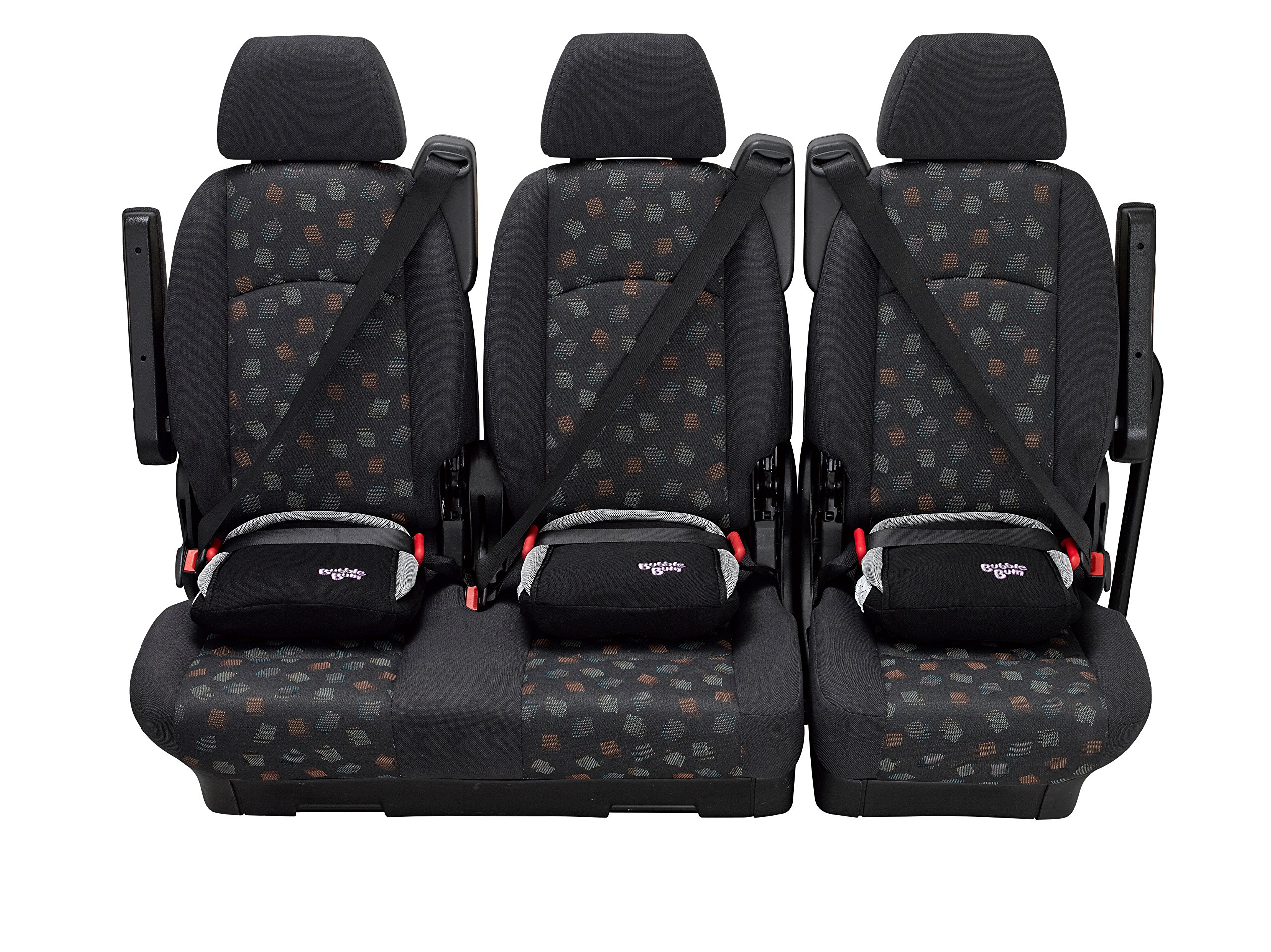 BubbleBum Inflatable Travel Car Booster Seat, Group 2/3, Black  The Award Winning BubbleBum Car Booster Seat The Inflatable, portable & safe booster seat for children aged 4 - 11, 15 - 36kg (with the provision of a vehicle headrest) Approved to the EU Safety Standard R44.04 for both Groups 2 and 3. Dimension - When inflated the seat measures 11 x11 x 4.5 Inches.  When deflated the seat measures 11.8 x 5.9 x 3.9 Inches.  Tip - ideal as you can now fit three across the back 3
