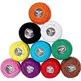 10 Pcs Fil de Crochet - 5g Fil de Coton pour Crochet - Fil Crochet - Fil à Tricoter Idéal pour Les débutants et Les Passionnés de Crochet Expérimentés (10 x 47 mètres - 470 mètres)