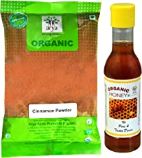 Arya Farm 100% Certified Organic Cinnamon Powder (Dalchini), Natural Honey, 200g (Cinnamon Powder, 200 Gms)