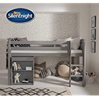 Silentnight Kids Shorty Mattress 75x175cm | Foam & Chemical Treatment Free | Hypoallergenic and Breathable | Ideal for short bedframes & cabin beds