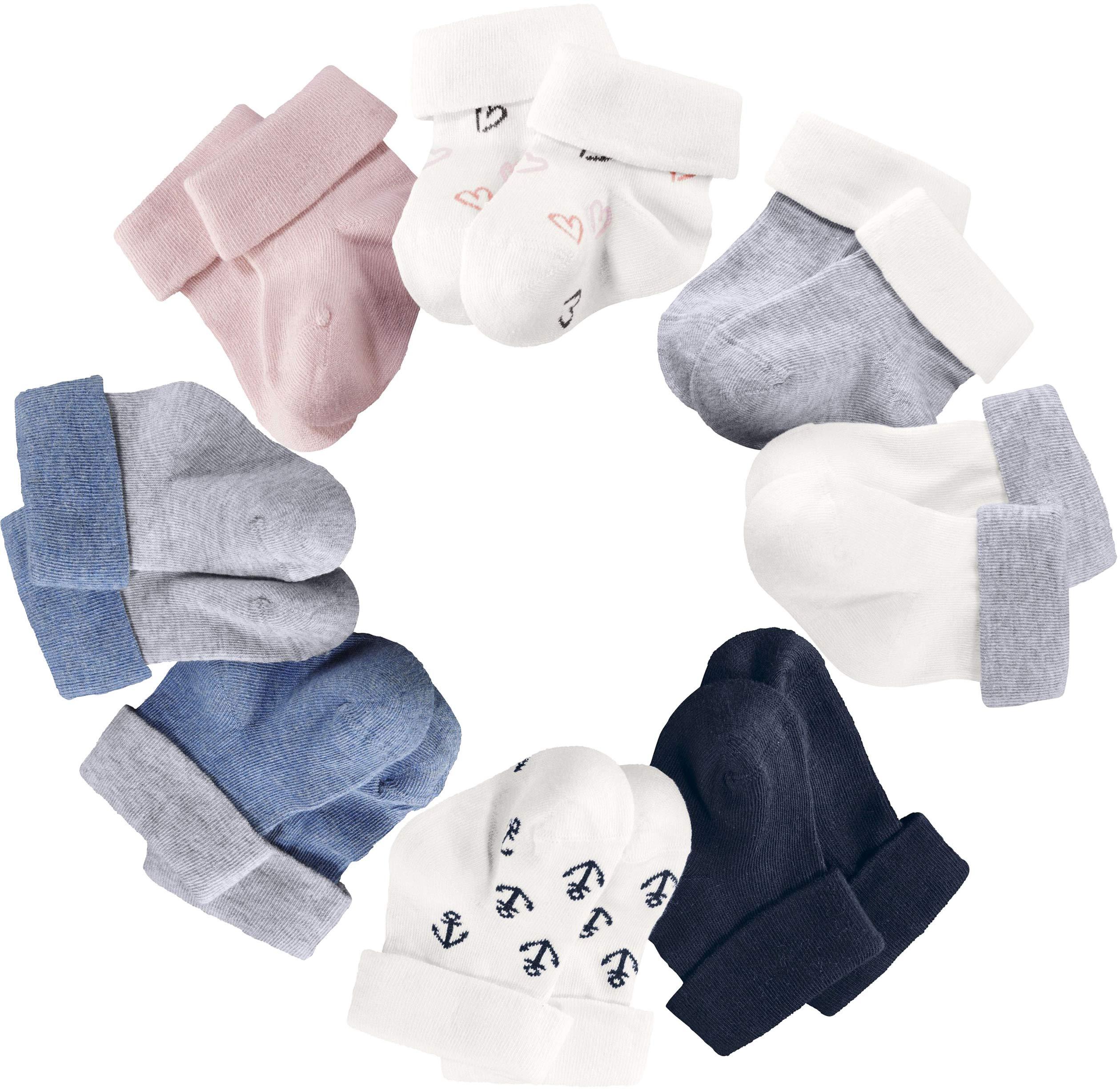 lupilu® 6 Paar Baby Mädchen Jungen Socken Söckchen Erstlingssocken mit Bio-Baumwolle
