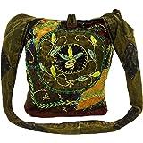 GURU SHOP Batik Sadhu Bag, Hippie Tasche, Goa Schulterbeutel - Lila, Herren/Damen, Baumwolle, 40x35x25 cm, Alternative Umhäng