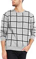 Maniac Men's Cotton T-Shirt (Mens-Ss18-Rn-Fs-Checked-Tshirt)