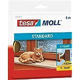 tesamoll Standard I-Profile tätningslist av skum - Dörrlist & Fönsterlist för 1-3,5 mm stora springor mellan karm och fönster