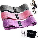 PROIRON Motståndsband, träningsöglor [3 nivåer] för män och kvinnor, höfter glutes rumpa ben fitnessträning, yoga, pilates, t