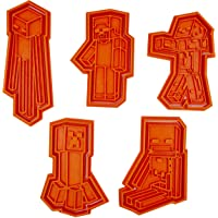 Set di 5 Tagliabiscotti compatibili con formine del videogioco Minecraft
