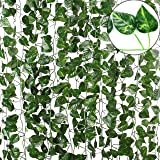 TDas Artificial Ivy Garlands Leaves Greenery Hanging Vine Creeper Plants for Home Decor Door Wall Balcony Decoration Party Fe