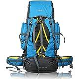 TRAWOC 60 Ltr Travel Rucksack Bag Hiking Trekking Backpack, Sky Blue