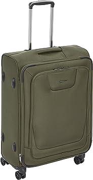 AmazonBasics - Premium-Weichschalen-Trolley mit TSA-Schloss, erweiterbar, 64 cm, Olivgrün