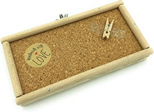 Vitezza Vogel-Sitzbrett M mit Korkboden, Umrandung aus Buchenholz inkl, Befestigungsmaterial aus Edelstahl mit Extra großen Scheiben