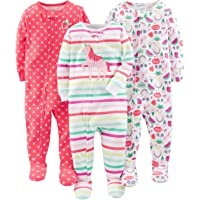 Simple Joys by Carter's Baby Girl's 3-Pack Snug Fit Footed Cotton Pajamas