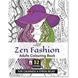 Zen Sangam Zen Fashion Adults Coloring Book for Calmness and Stress Relief (32 Challenging Human Zen Patterns to Color)