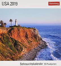 USA - Kalender 2019: Sehnsuchtskalender, 53 Postkarten