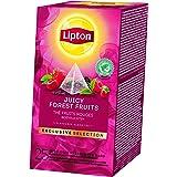 Lipton Exclusive Selection Thé Noir Fruits Rouges, Doux et Equilibré, Arôme de Fraises, Framboises, Groseilles et Cerises, La