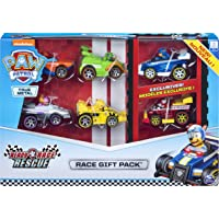 PAW Patrol 6054522 - True Metal Ready Race Rescue Gift Pack of 6 Race Car Collectible Die-Cast Vehicles, 1:55 Scale