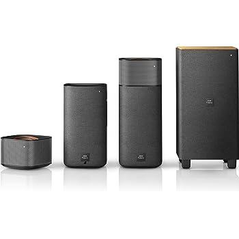Philips Fidelio E5 Home Cinéma 4.1 avec Bluetooth, NFC, Enceintes Arrières sans Fil, Matériaux Haut de Gamme, 210W, Noir
