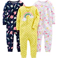 Simple Joys by Carter's Baby Girl's 3-Pack Snug Fit Footless Cotton Pajamas