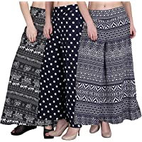 Pixie Women's/Girls Wide Leg Printed Crepe Palazzo/Trouser with Lining and Pocket (S, M, L, XL, XXL and XXXL)