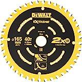 DEWALT Extreme cirkelsågblad DT10301 (för handcirkelsåg utan spaltkil sågblad ø 165/20 mm, skärbredd: 1,65 mm, 40 tänder, tan