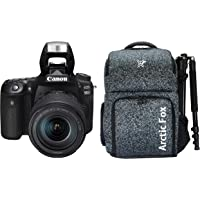 "Canon EOS 90D Digital SLR Camera with 18-135 is USM Lens with 16GB Card + Arctic Fox Camera Bag with Lens, 15.5"" Laptop & Tripod Holder"