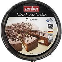 Zenker 6500 Tortiera Apribile 1 Fondo in Acciaio, Nero, 20 cm