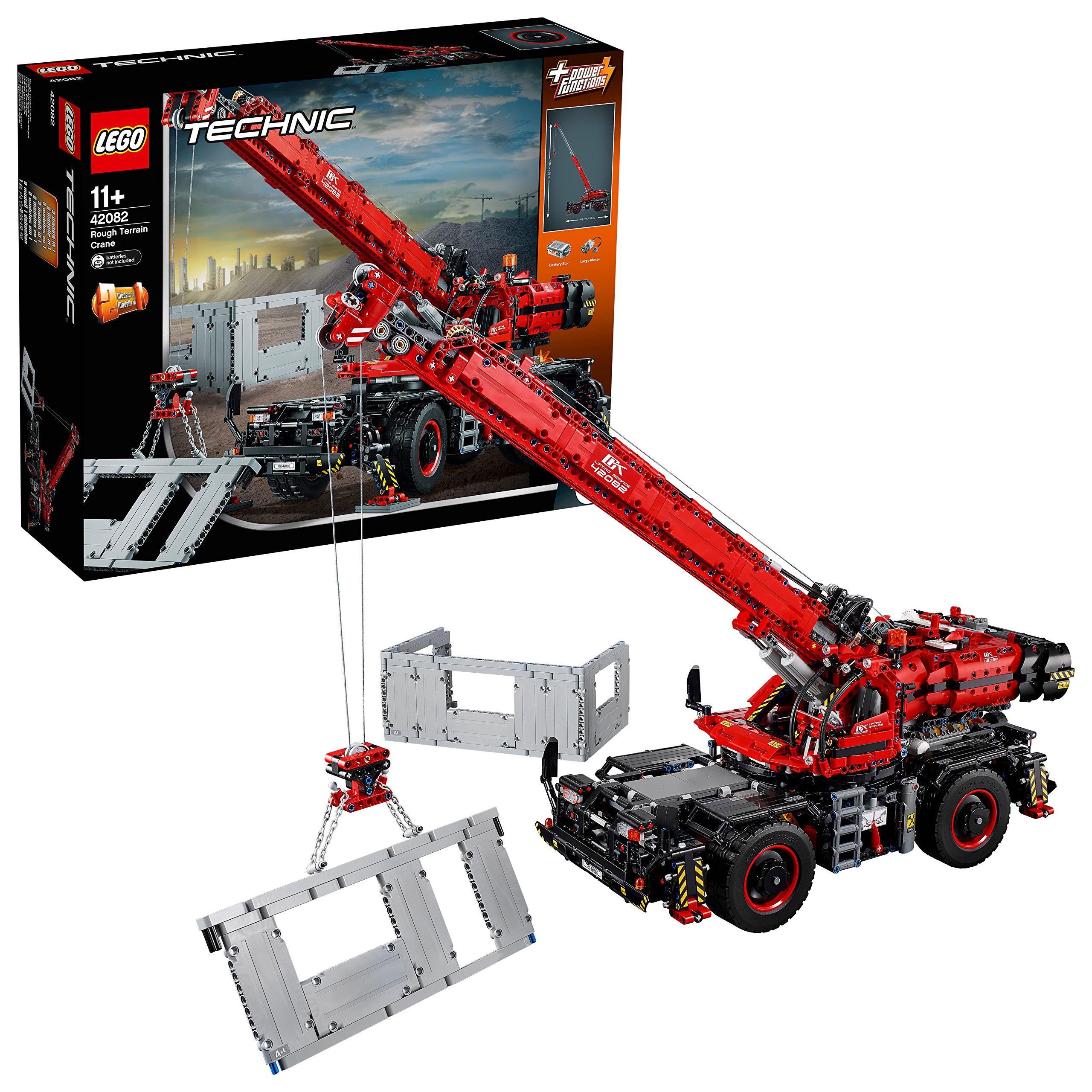 LEGO Technic geländegängiger Kranwagen (42082), Bauspielzeug, 2-in-1-Modell