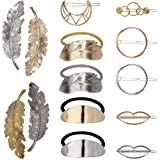 Molletta Capelli Hollow Fasce Elastici per Capelli Round Moon Hairpins Accessori Metallo forcine per capelli per Donne 14 pez