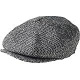 PEAKY BLINDERS 8 Piece 'Newsboy' Style Flat Cap -Tweed Wool Fabric Variations