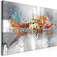 decomonkey Bilder Abstrakt 120x60 cm 1 Teilig Leinwandbilder Bild auf Leinwand Vlies Wandbild Kunstdruck Wanddeko Wand…