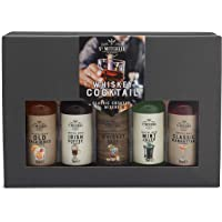 Modern Gourmet Foods, Miscele per Cocktail al Whiskey in Confezione Regalo, Include i Sapori Whiskey Sour, Old Fashioned…