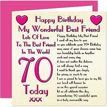 Best Friend 70th Happy Birthday Card