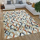 Paco Home Tapis Salon Vintage Industriel Poils Courts Rouille, Dimension:160x220 cm, Couleur:Multicolore