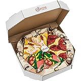 Rainbow Socks - Pizza MIX Italiana Hawaiana Pepperoni Mujer Hombre - 4 pares de Calcetines