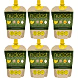 On The Go Yoghurt Pouches with Fruit Puree - Low Calorie, All Natural Squeeze Pouches with No Added Sugar - Pack of 6 x…
