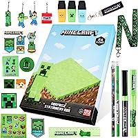 Minecraft Adventskalender 2021, Schreibwaren Adventskalender Kinder, Adventskalender mit Schreibwaren Set