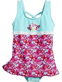 Playshoes UV-Schutz Badeanzug Mit Rock Flamingo, Traje de baño de una Pieza para
