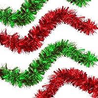THE TWIDDLERS Lot de 2 Guirlandes de Noël - 2 Couleurs Vives Rouge et Vert - Parfait pour Decoration Les Sapins de Noël…