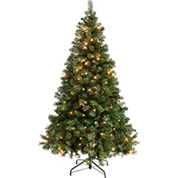 0e38fbb885f8 6ft (1.8m) Emerald Green Spruce Pre-Lit Christmas Tree with 200 Warm ...