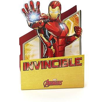Hallmark Marvel Iron Man Birthday Card Foil Medium Amazon