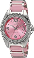 Akribos XXIV Womens Quartz Watch, Analog Display and Ceramic Strap AK514PK