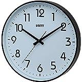 Unity Fradley - Reloj de pared silencioso, moderno, 30 x 30 x 5 cm, color negro
