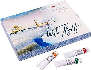Extrafeine Künstler Aquarellfarben in 10 ml Tuben WHITE NIGHTS