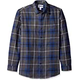 Amazon Essentials - Camisa de franela a cuadros, manga larga, ajustada, para hombre