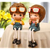 Daarva Home Decor Beautiful Cute Girl and Boy Couple Love Figurines for Living Room Decor and Gifts for Birthday Anniversary