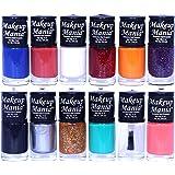 Makeup Mania Nail Polish Set of 12 Pcs, Nail Paint of 6ml each x 12 Pcs, MultiColor Combo Set No.90