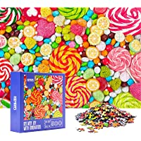 HXMARS Jigsaw Puzzles for Adults Kids: 500-Piece-Puzzles Game for Family-Colorful Candies, Illustrated Art with Colorful…