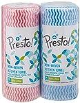 Amazon Brand - Presto! Non Woven Kitchen Towel Roll - 80 Pulls (Pack of 2)