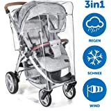Zamboo Universal Regenschutz für Buggy und Sportwagen | Regenverdeck mit Fenster, hochklappbar für einfachen Ein- und Ausstieg | passend für jeden Kinderwagen