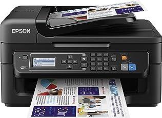 Epson WorkForce WF-2630WF Tintenstrahl-Multifunktionsgerät (Drucker, Scanner, kopieren, Fax, WiFi) schwarz