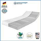Ravensberger Matratzen® 7-Zonen Matratze Softwelle | HR Kaltschaummatratze H1 RG 45 (0-45 kg) | MADE IN GERMANY - 10 JAHRE GARANTIE | ÖKO-TEX® 100 Bezug Baumwoll-Doppeltuch 90x200 cm